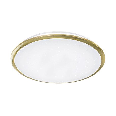 Потолочный светодиодный светильник Citilux Старлайт CL70362, IP44, LED 60W 3000K 3900lm, белый, золото, металл, металл с пластиком