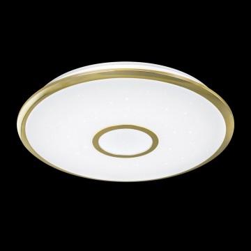 Потолочный светодиодный светильник с пультом ДУ Citilux Старлайт CL70362R, IP44, LED 60W, 3000-4500K, белый, золото, металл, пластик - миниатюра 2