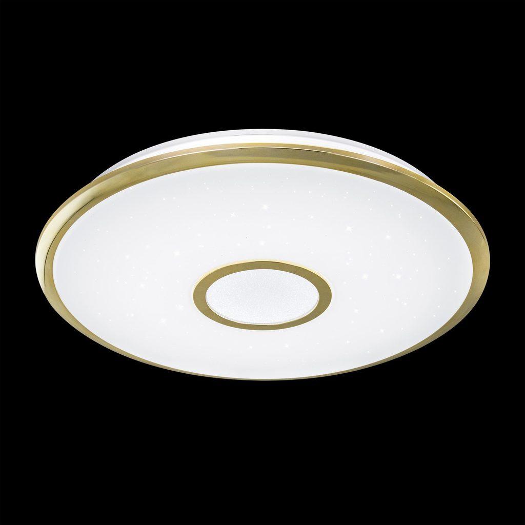 Потолочный светодиодный светильник с пультом ДУ Citilux Старлайт CL70362R, IP44, LED 60W, 3000-4500K, белый, золото, металл, пластик - фото 2