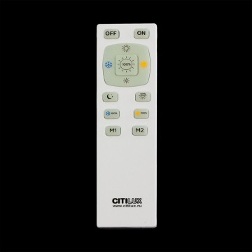 Потолочный светодиодный светильник с пультом ДУ Citilux Старлайт CL70362R, IP44, LED 60W, 3000-4500K, белый, золото, металл, пластик - миниатюра 5