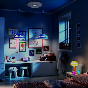 Потолочный светодиодный светильник с пультом ДУ Citilux Старлайт CL70362R, IP44, LED 60W, 3000-4500K, белый, золото, металл, пластик - миниатюра 8