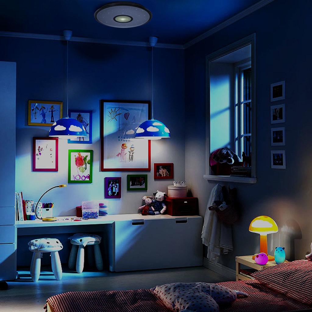 Потолочный светодиодный светильник с пультом ДУ Citilux Старлайт CL70362R, IP44, LED 60W, 3000-4500K, белый, золото, металл, пластик - фото 8