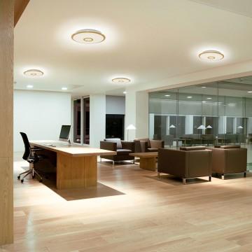 Потолочный светодиодный светильник с пультом ДУ Citilux Старлайт CL70362R, IP44, LED 60W, 3000-4500K, белый, золото, металл, пластик - миниатюра 9