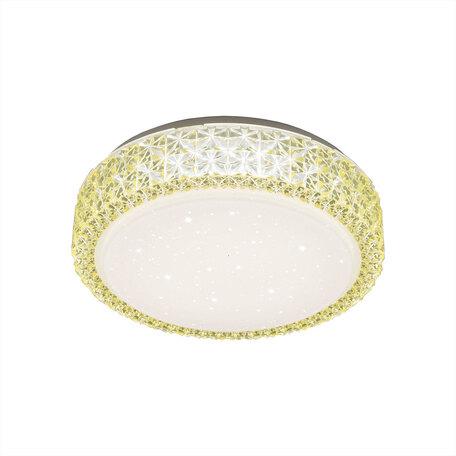 Потолочный светодиодный светильник Citilux Кристалино CL705012, LED 18W 3000K 1170lm, белый, желтый, металл, пластик