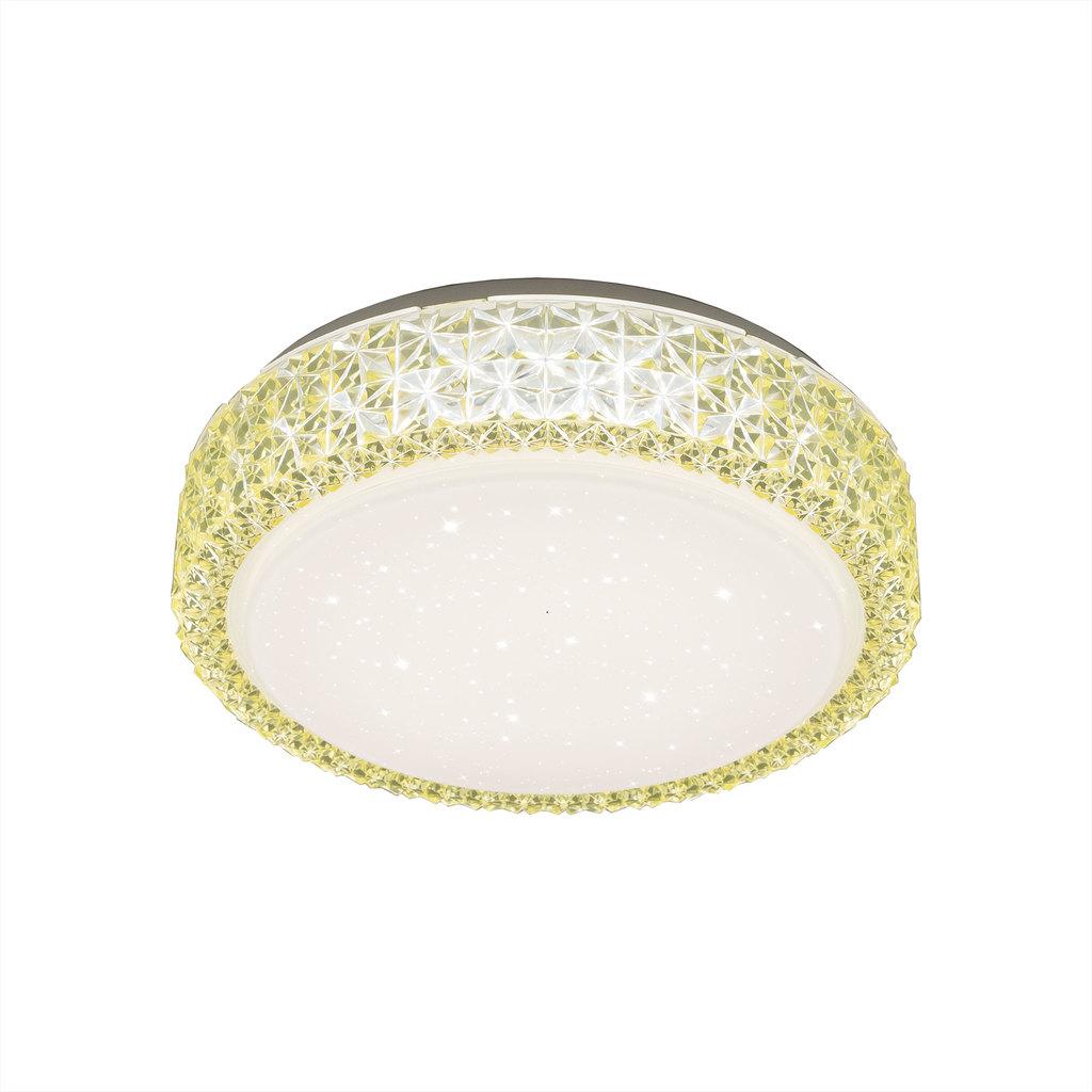 Потолочный светодиодный светильник Citilux Кристалино CL705012, LED 18W 3000K 1170lm, белый, желтый, металл, пластик - фото 1