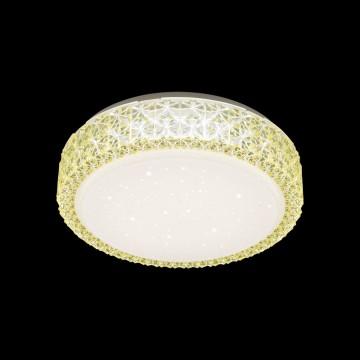 Потолочный светодиодный светильник Citilux Кристалино CL705012, LED 18W 3000K 1170lm, белый, желтый, металл, пластик - миниатюра 2