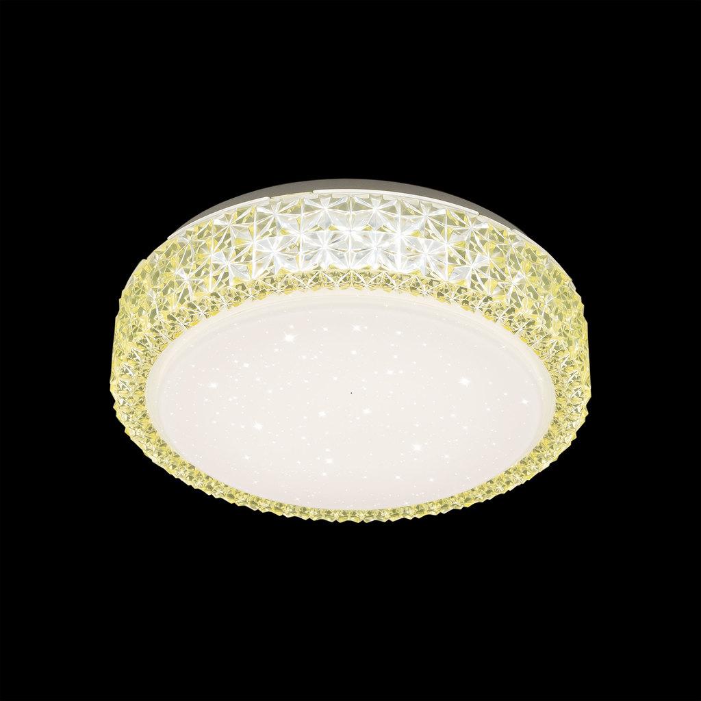 Потолочный светодиодный светильник Citilux Кристалино CL705012, LED 18W 3000K 1170lm, белый, желтый, металл, пластик - фото 2