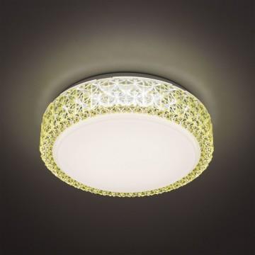 Потолочный светодиодный светильник Citilux Кристалино CL705012, LED 18W 3000K 1170lm, белый, желтый, металл, пластик - миниатюра 3