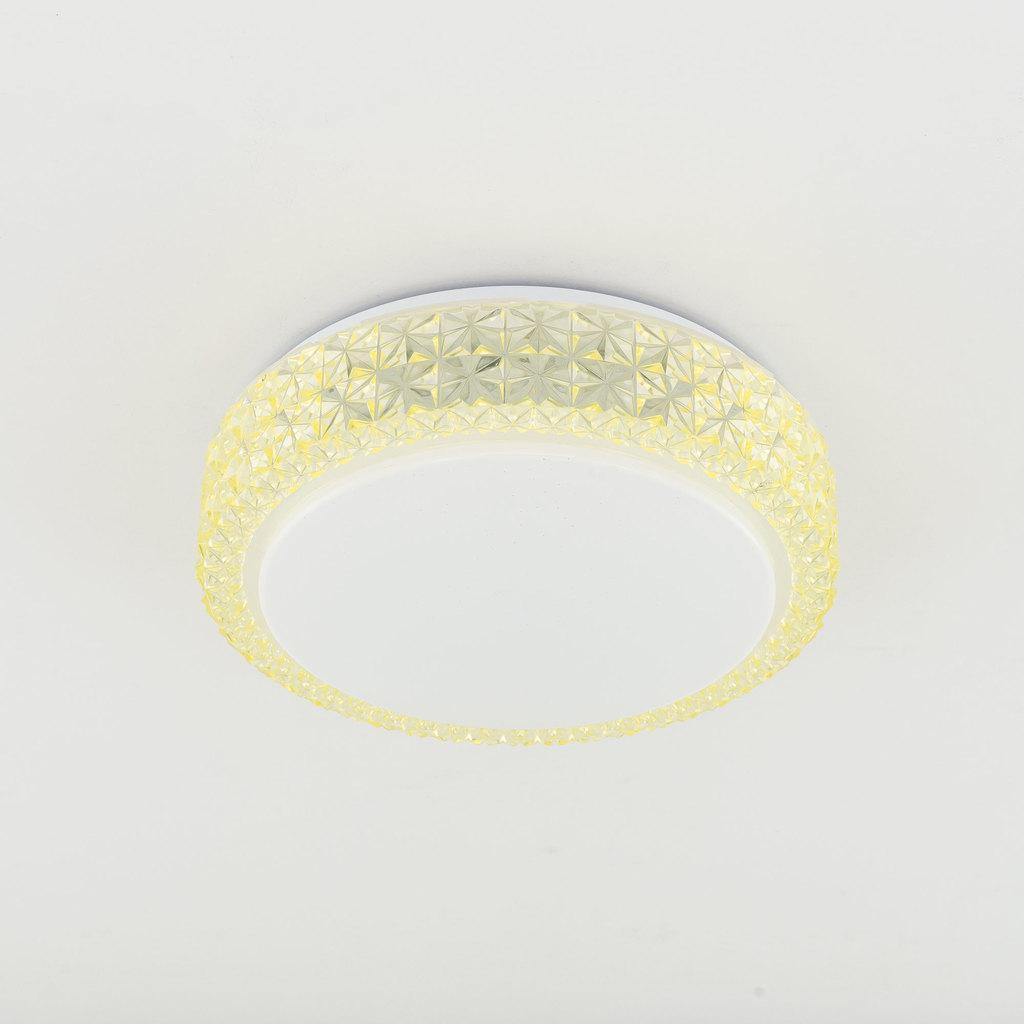 Потолочный светодиодный светильник Citilux Кристалино CL705012, LED 18W 3000K 1170lm, белый, желтый, металл, пластик - фото 4