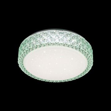 Потолочный светодиодный светильник Citilux Кристалино CL705013, LED 18W 3000K 1170lm, белый, зеленый, металл, пластик - миниатюра 2