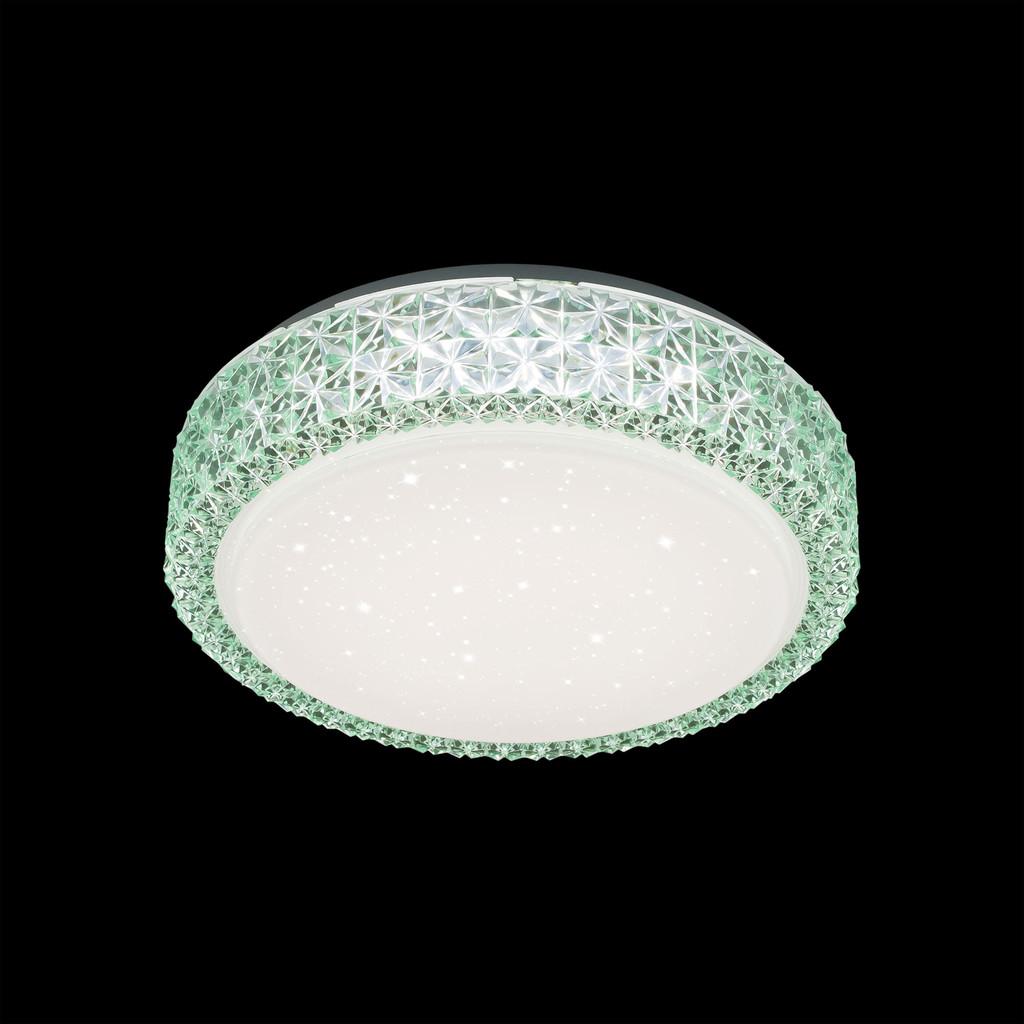 Потолочный светодиодный светильник Citilux Кристалино CL705013, LED 18W 3000K 1170lm, белый, зеленый, металл, пластик - фото 2