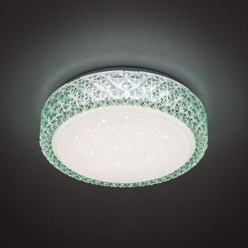 Потолочный светодиодный светильник Citilux Кристалино CL705013, LED 18W 3000K 1170lm, белый, зеленый, металл, пластик - миниатюра 3