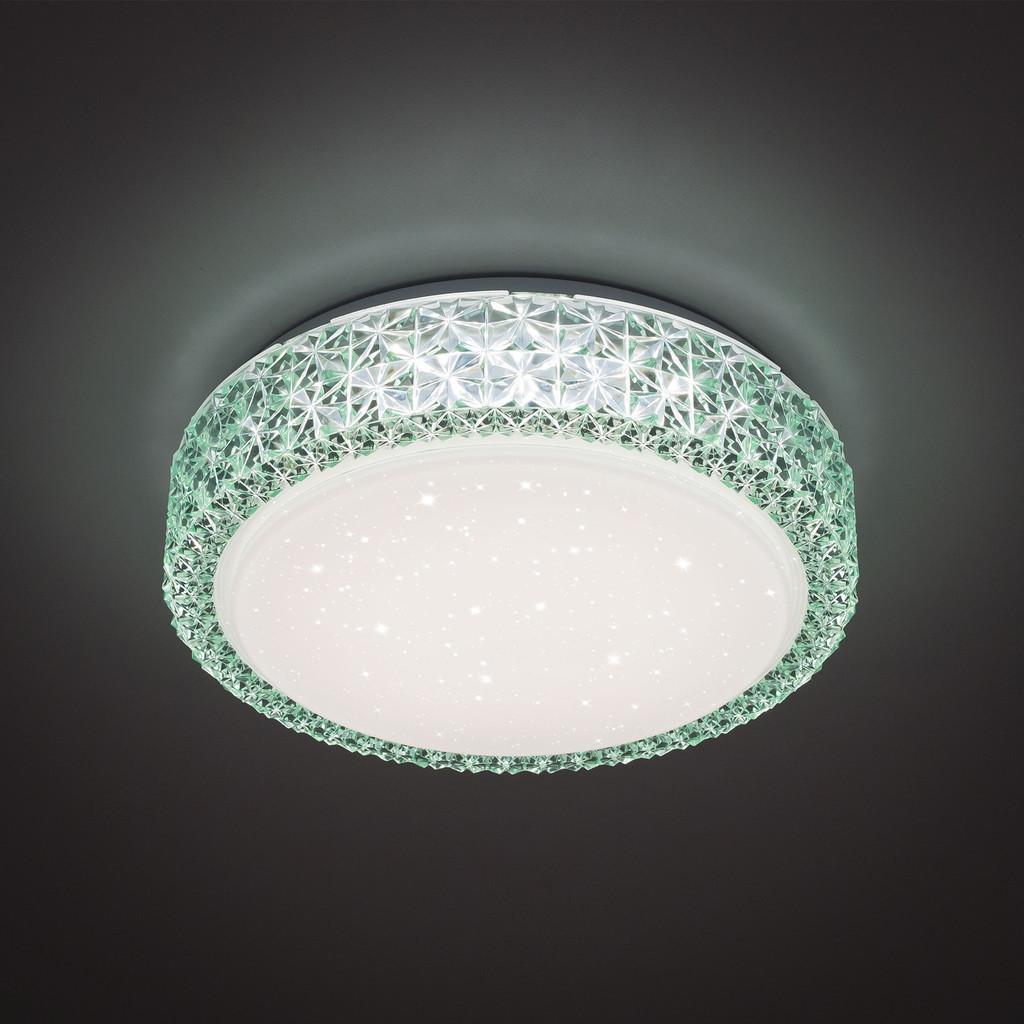 Потолочный светодиодный светильник Citilux Кристалино CL705013, LED 18W 3000K 1170lm, белый, зеленый, металл, пластик - фото 3