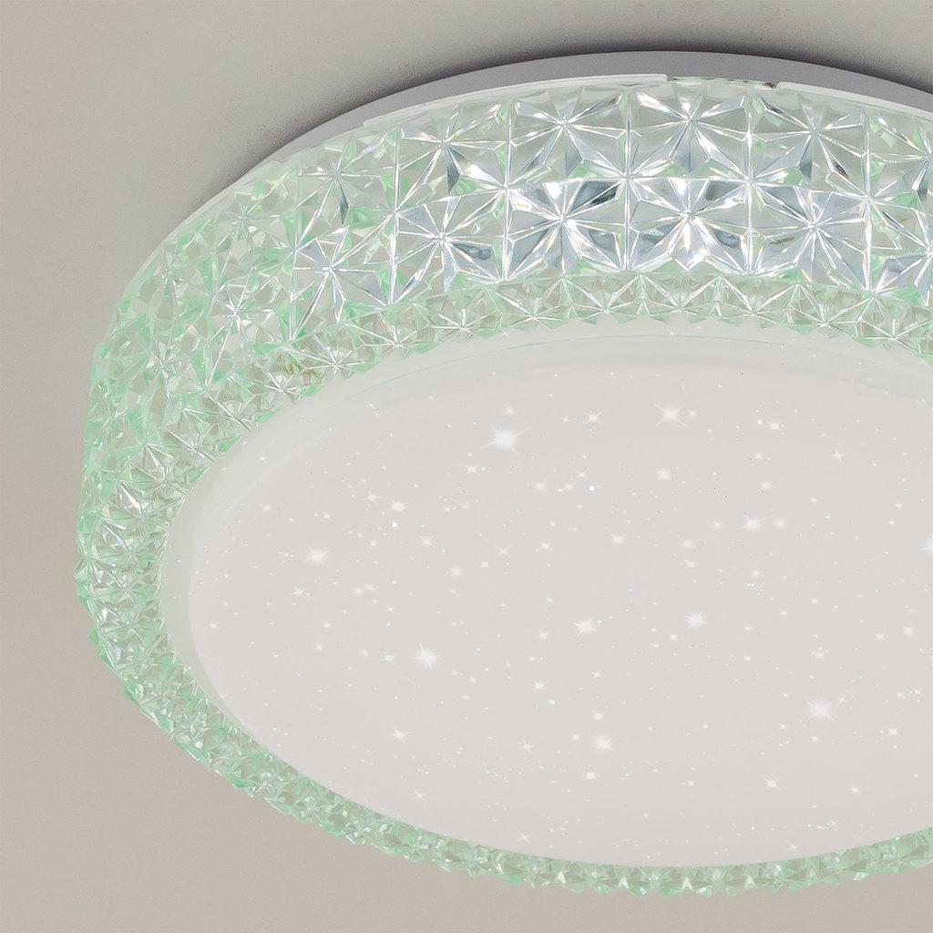Потолочный светодиодный светильник Citilux Кристалино CL705013, LED 18W 3000K 1170lm, белый, зеленый, металл, пластик - фото 4