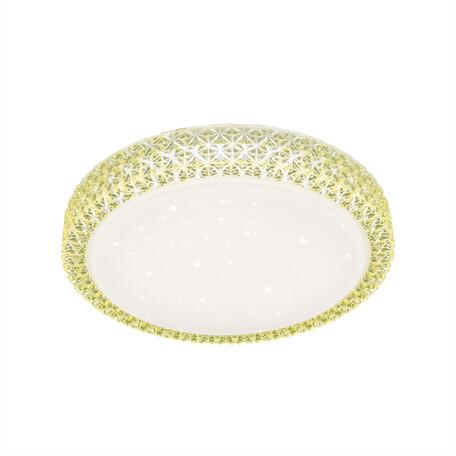 Потолочный светодиодный светильник Citilux Кристалино CL705022, LED 30W 3000K 1950lm, белый, желтый, металл, пластик