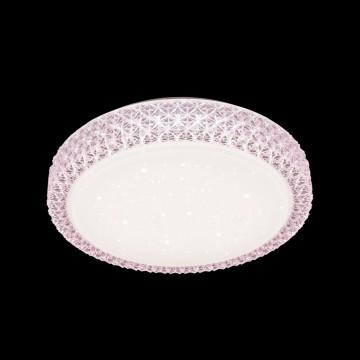 Потолочный светодиодный светильник Citilux Кристалино CL705024, LED 30W 3000K 1950lm, белый, розовый, металл, пластик - миниатюра 2