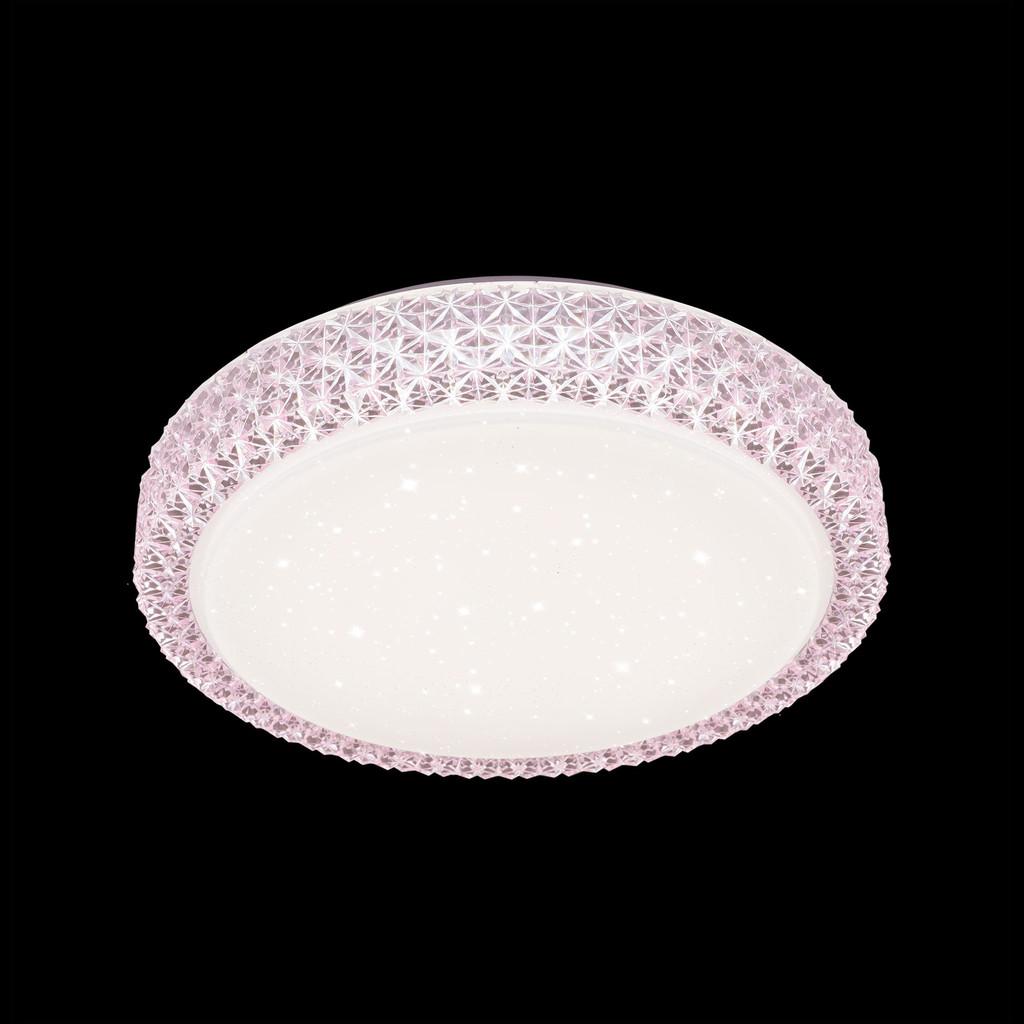 Потолочный светодиодный светильник Citilux Кристалино CL705024, LED 30W 3000K 1950lm, белый, розовый, металл, пластик - фото 2