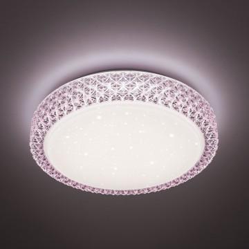 Потолочный светодиодный светильник Citilux Кристалино CL705024, LED 30W 3000K 1950lm, белый, розовый, металл, пластик - миниатюра 3