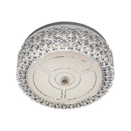 Потолочный светодиодный светильник Citilux Кристалино CL705101, LED 12W 3000K 1000lm, белый, металл, пластик