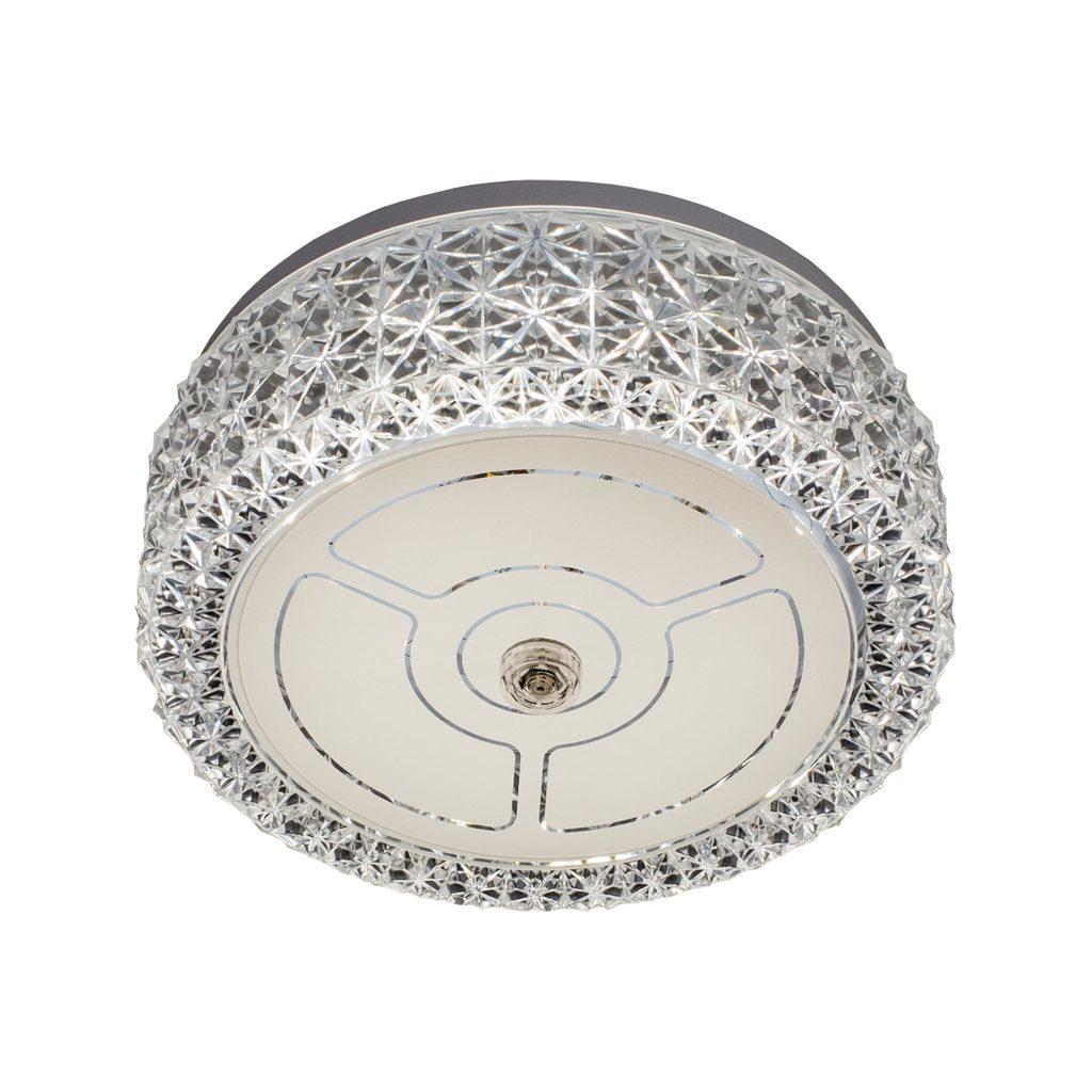 Потолочный светодиодный светильник Citilux Кристалино CL705101, LED 12W 3000K 1000lm, белый, металл, пластик - фото 1