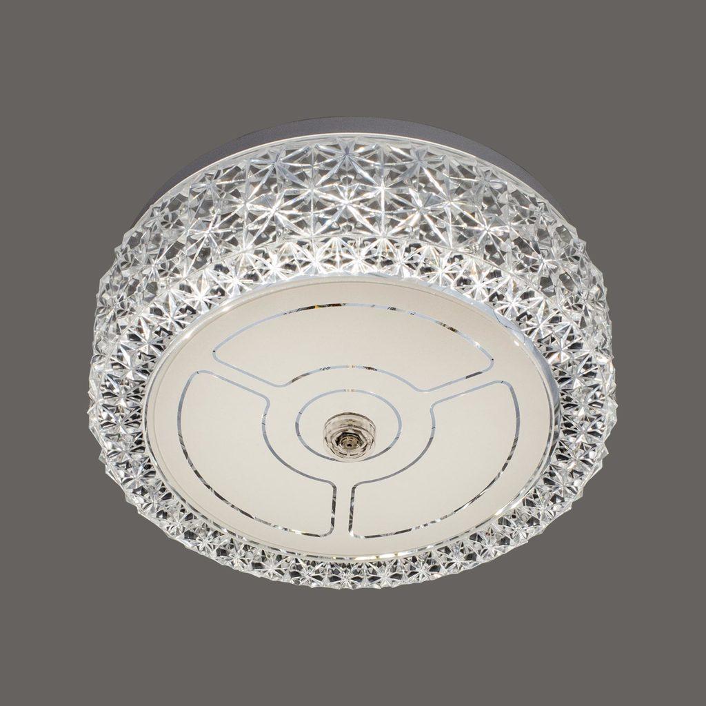 Потолочный светодиодный светильник Citilux Кристалино CL705101, LED 12W 3000K 1000lm, белый, металл, пластик - фото 3