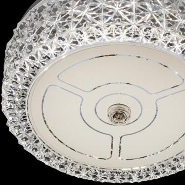 Потолочный светодиодный светильник Citilux Кристалино CL705101, LED 12W 3000K 1000lm, белый, металл, пластик - миниатюра 4