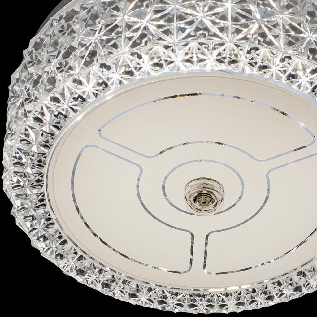 Потолочный светодиодный светильник Citilux Кристалино CL705101, LED 12W 3000K 1000lm, белый, металл, пластик - фото 4
