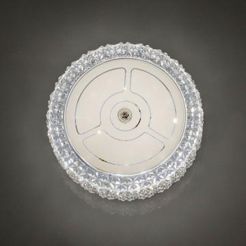 Потолочный светодиодный светильник Citilux Кристалино CL705101, LED 12W 3000K 1000lm, белый, металл, пластик - миниатюра 5