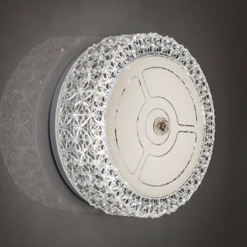 Потолочный светодиодный светильник Citilux Кристалино CL705101, LED 12W 3000K 1000lm, белый, металл, пластик - миниатюра 6