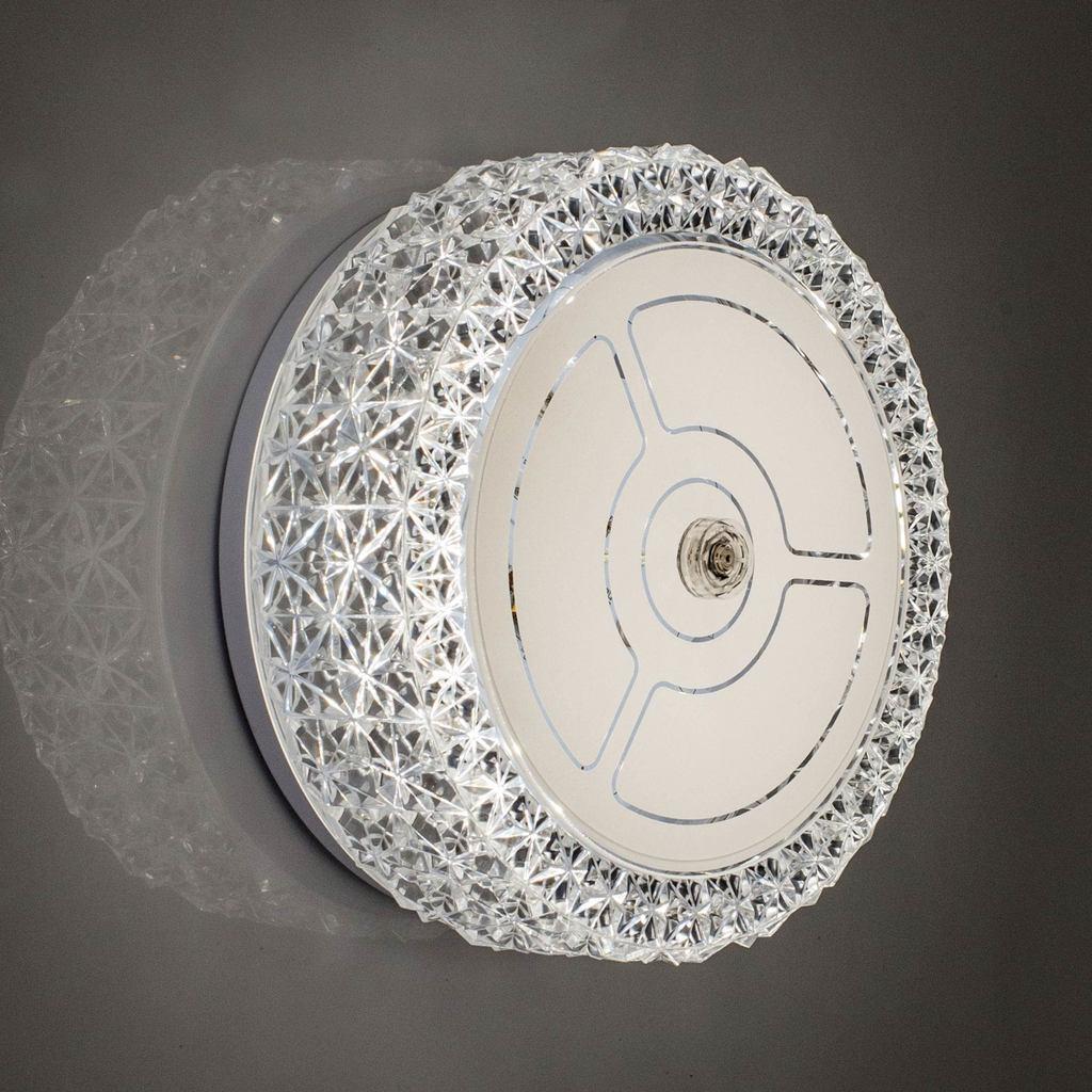Потолочный светодиодный светильник Citilux Кристалино CL705101, LED 12W 3000K 1000lm, белый, металл, пластик - фото 6