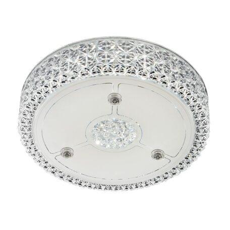 Потолочный светодиодный светильник Citilux Кристалино CL705111, LED 18W 3000K 1350lm, белый, металл, пластик