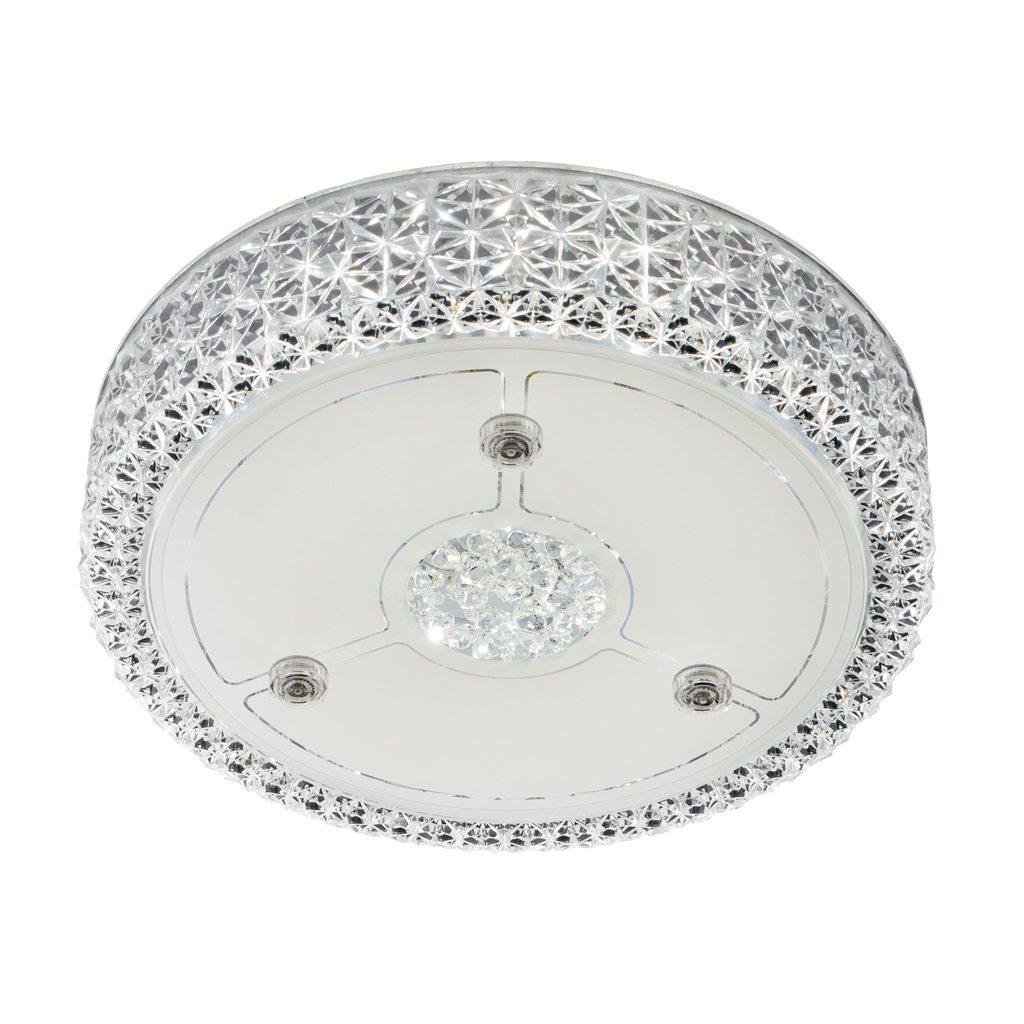 Потолочный светодиодный светильник Citilux Кристалино CL705111, LED 18W 3000K 1350lm, белый, металл, пластик - фото 1