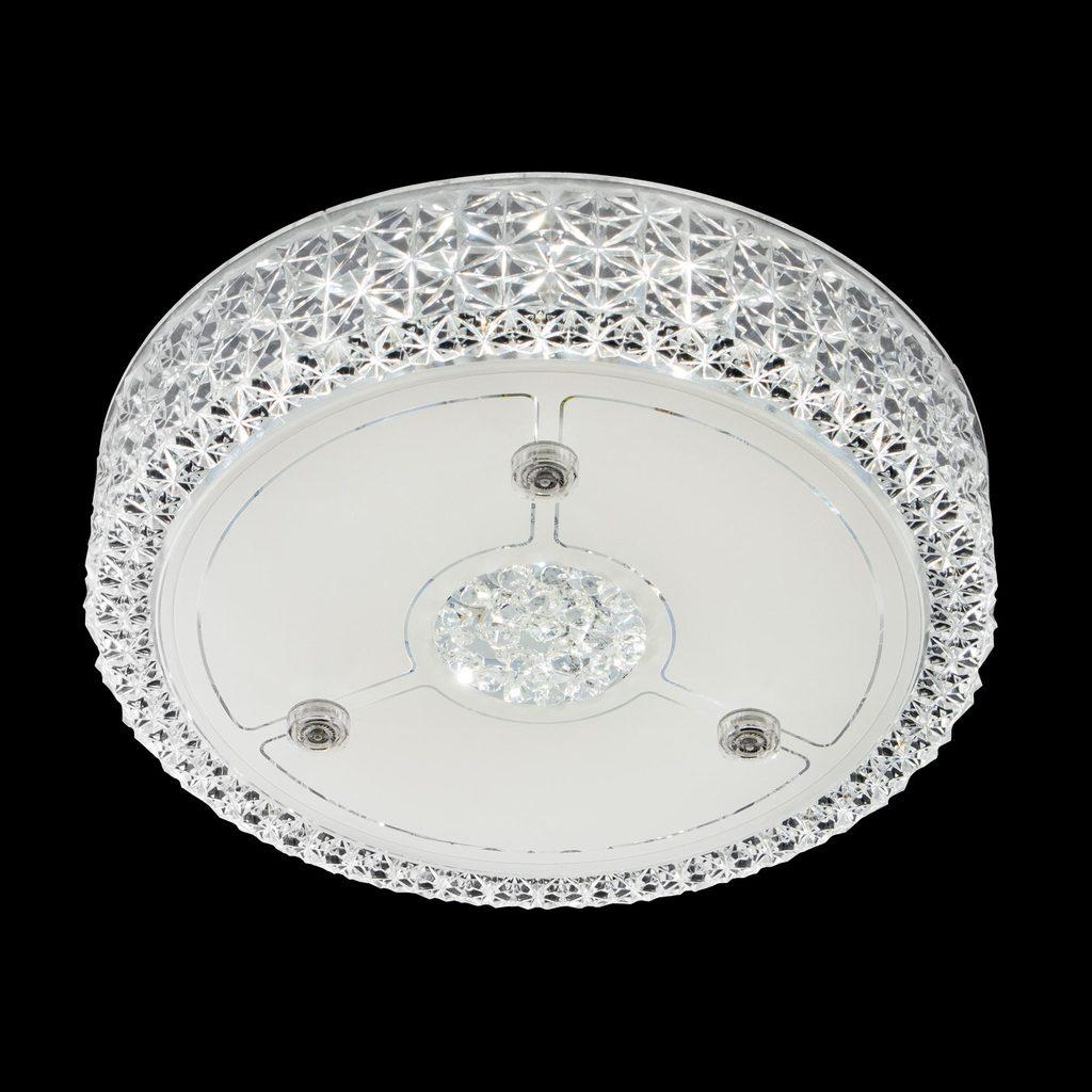 Потолочный светодиодный светильник Citilux Кристалино CL705111, LED 18W 3000K 1350lm, белый, металл, пластик - фото 2