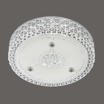 Потолочный светодиодный светильник Citilux Кристалино CL705111, LED 18W 3000K 1350lm, белый, металл, пластик - миниатюра 3