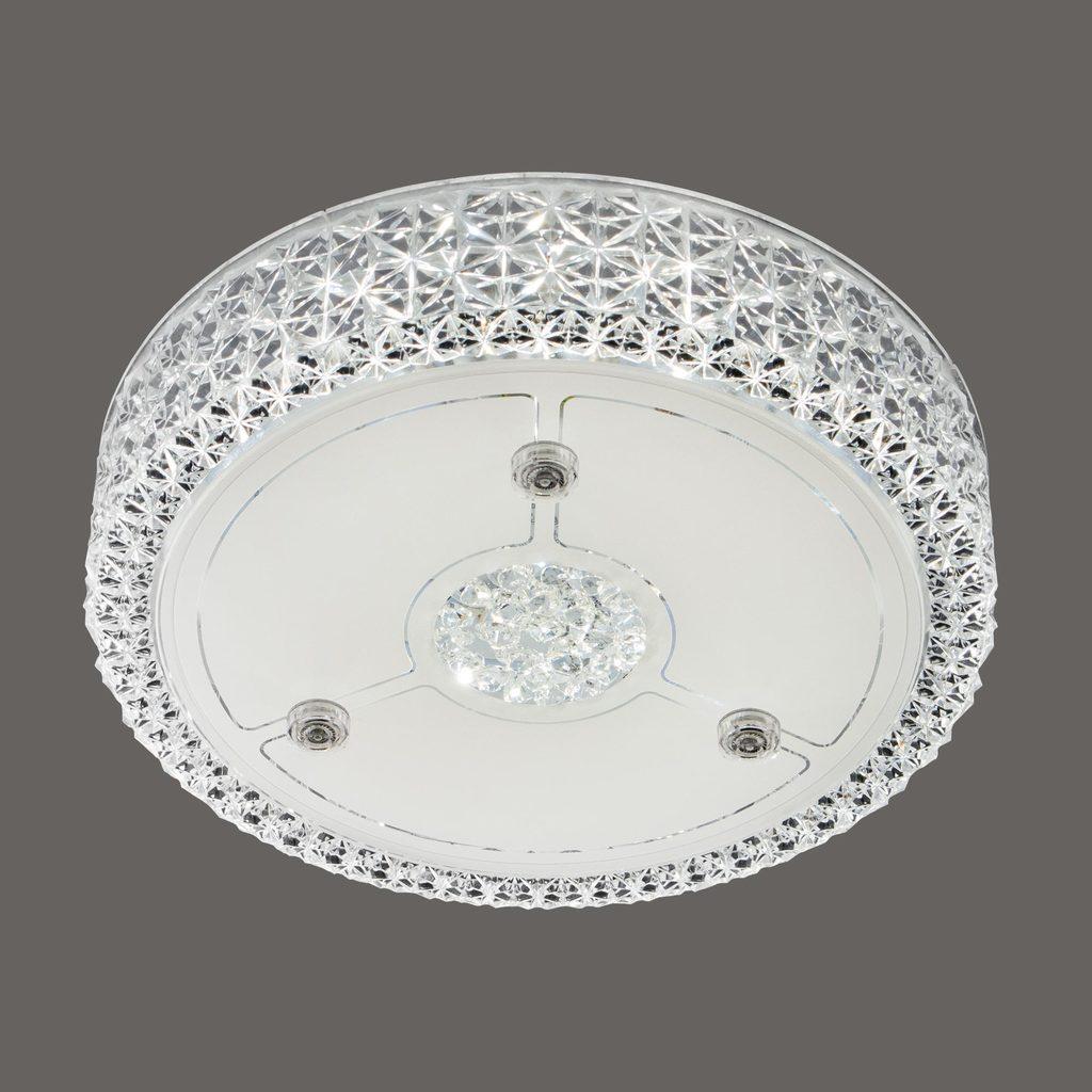 Потолочный светодиодный светильник Citilux Кристалино CL705111, LED 18W 3000K 1350lm, белый, металл, пластик - фото 3