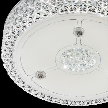 Потолочный светодиодный светильник Citilux Кристалино CL705111, LED 18W 3000K 1350lm, белый, металл, пластик - миниатюра 4