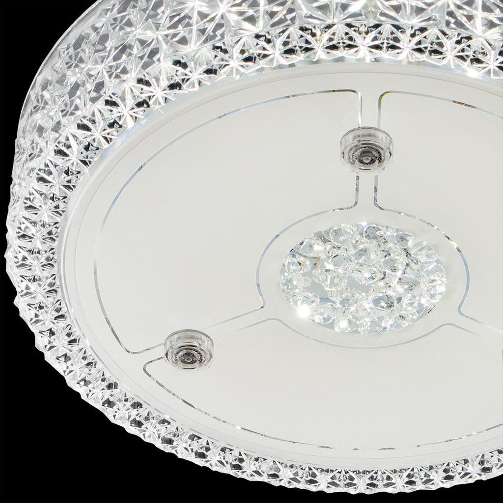 Потолочный светодиодный светильник Citilux Кристалино CL705111, LED 18W 3000K 1350lm, белый, металл, пластик - фото 4