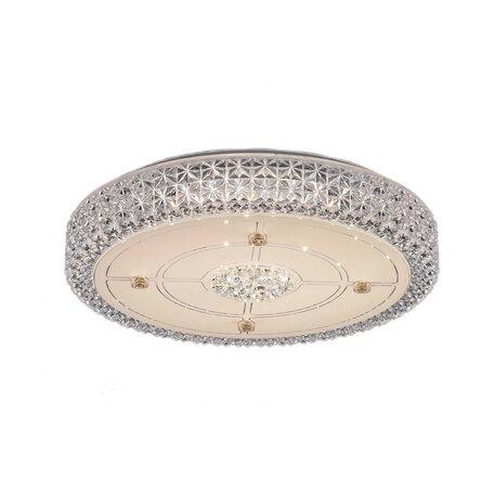 Потолочный светодиодный светильник Citilux Кристалино CL705121, LED 36W 3000K 2700lm, белый, металл, пластик