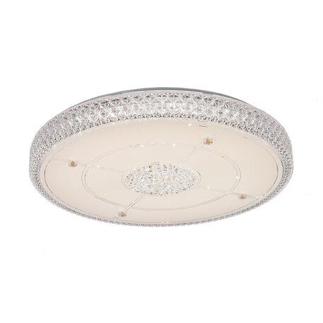 Потолочный светодиодный светильник Citilux Кристалино CL705131, LED 72W 3000K 5400lm, белый, металл, пластик