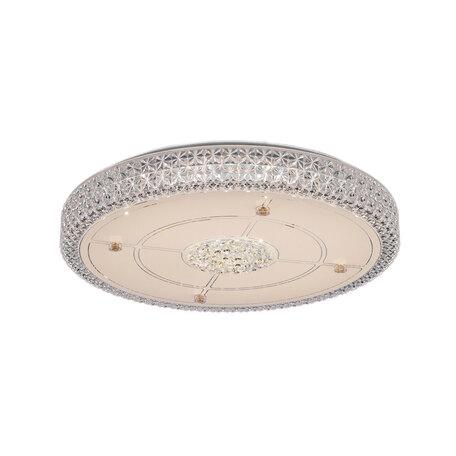 Потолочный светодиодный светильник Citilux Кристалино CL705141, LED 48W 3000K 3300lm, белый, прозрачный, металл, пластик, стекло