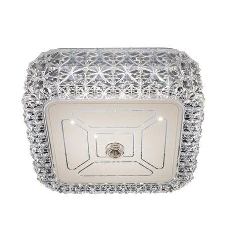 Потолочный светодиодный светильник Citilux Кристалино CL705201, LED 12W 3000K 1000lm, белый, прозрачный, металл, пластик, стекло