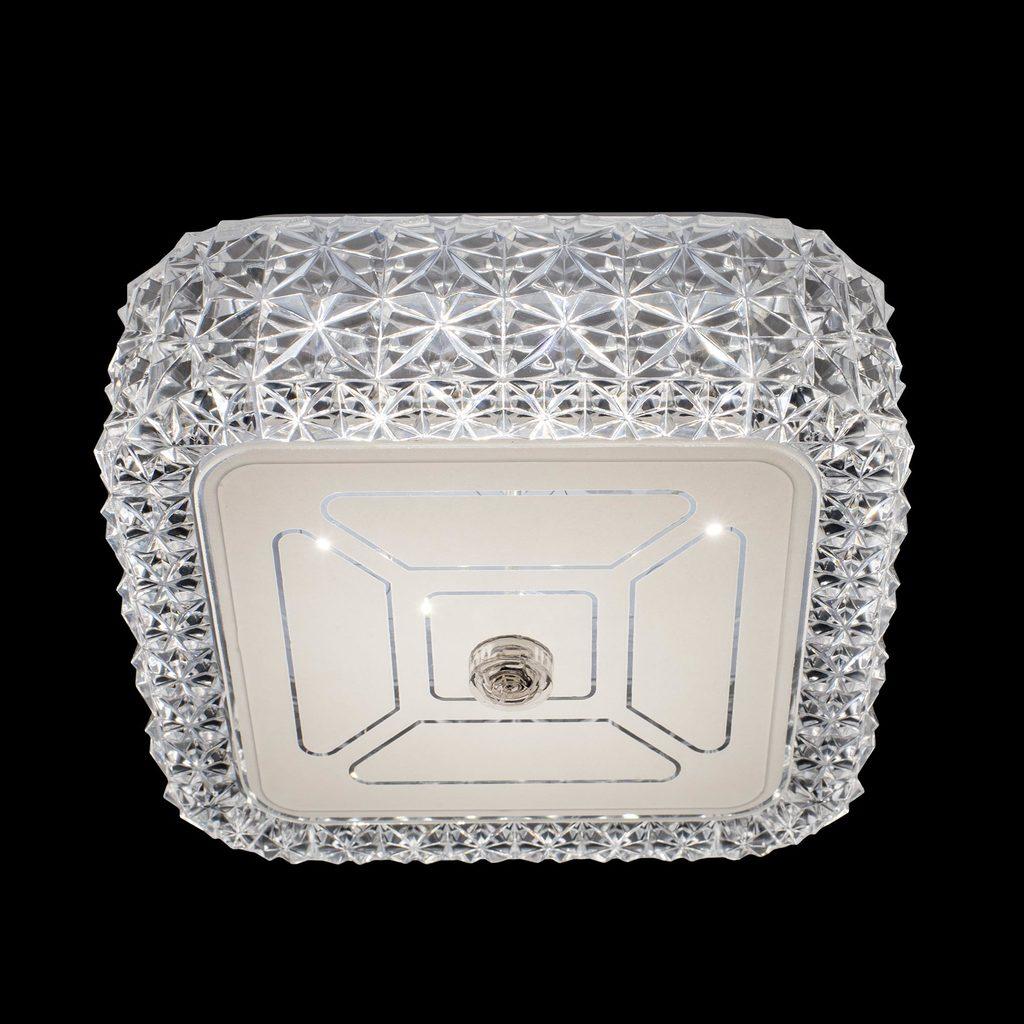 Потолочный светодиодный светильник Citilux Кристалино CL705201, LED 12W 3000K 1000lm, белый, металл, пластик - фото 3