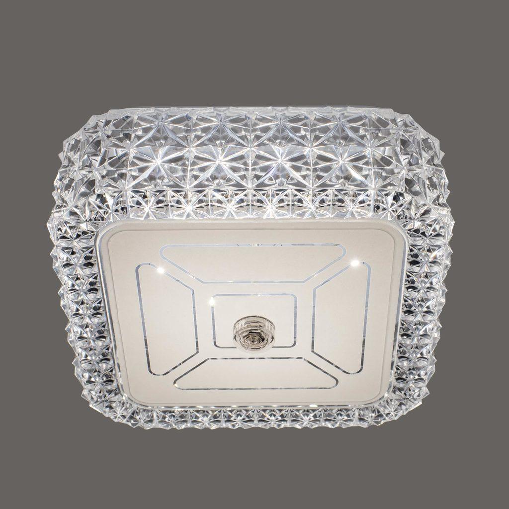 Потолочный светодиодный светильник Citilux Кристалино CL705201, LED 12W 3000K 1000lm, белый, металл, пластик - фото 4