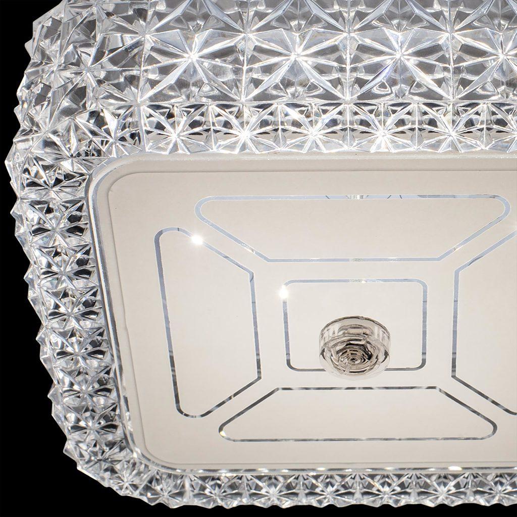 Потолочный светодиодный светильник Citilux Кристалино CL705201, LED 12W 3000K 1000lm, белый, металл, пластик - фото 5
