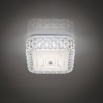 Потолочный светодиодный светильник Citilux Кристалино CL705201, LED 12W 3000K 1000lm, белый, металл, пластик - миниатюра 6
