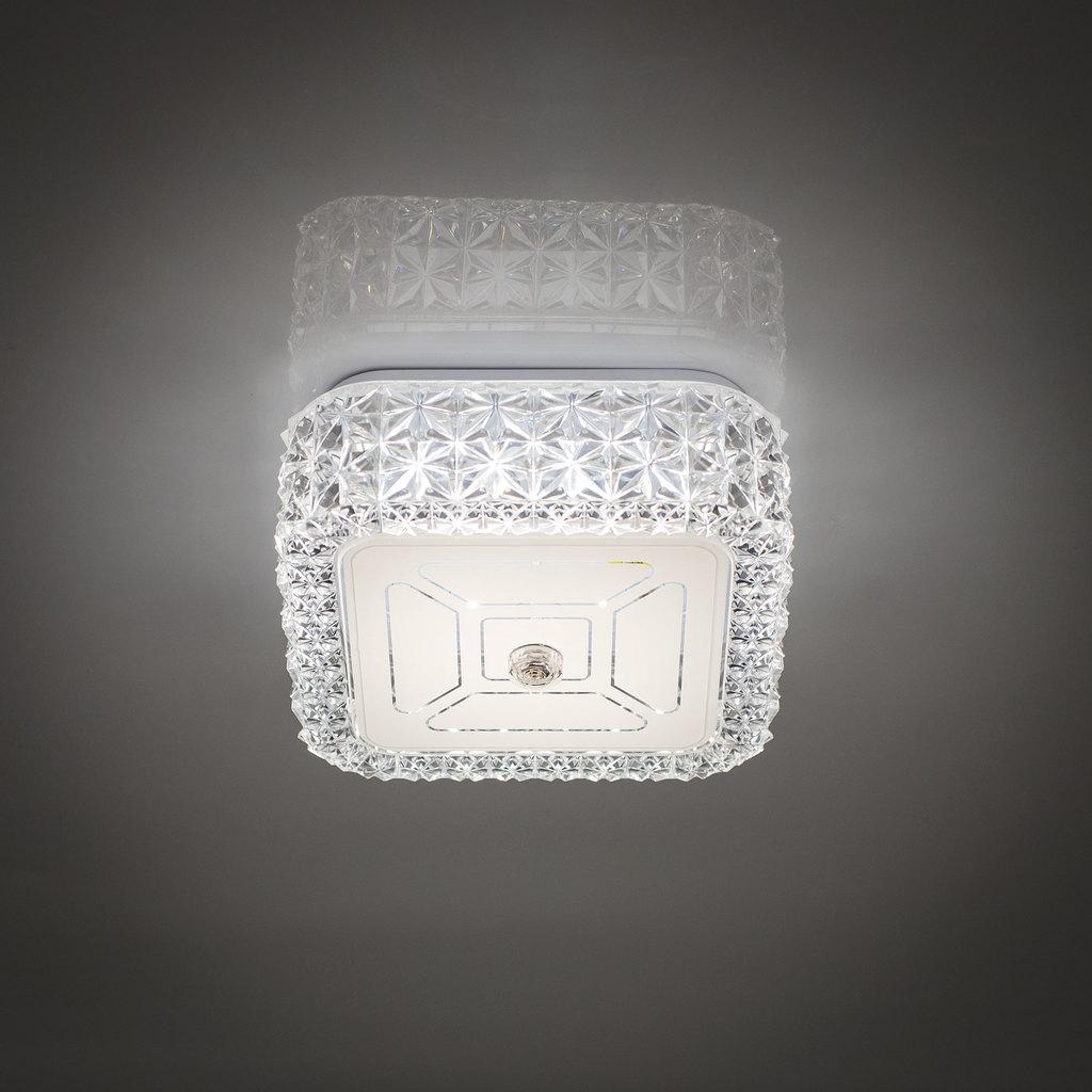 Потолочный светодиодный светильник Citilux Кристалино CL705201, LED 12W 3000K 1000lm, белый, металл, пластик - фото 6