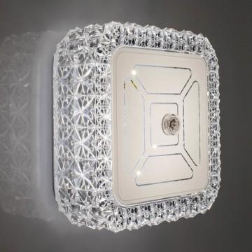 Потолочный светодиодный светильник Citilux Кристалино CL705201, LED 12W 3000K 1000lm, белый, металл, пластик - миниатюра 8