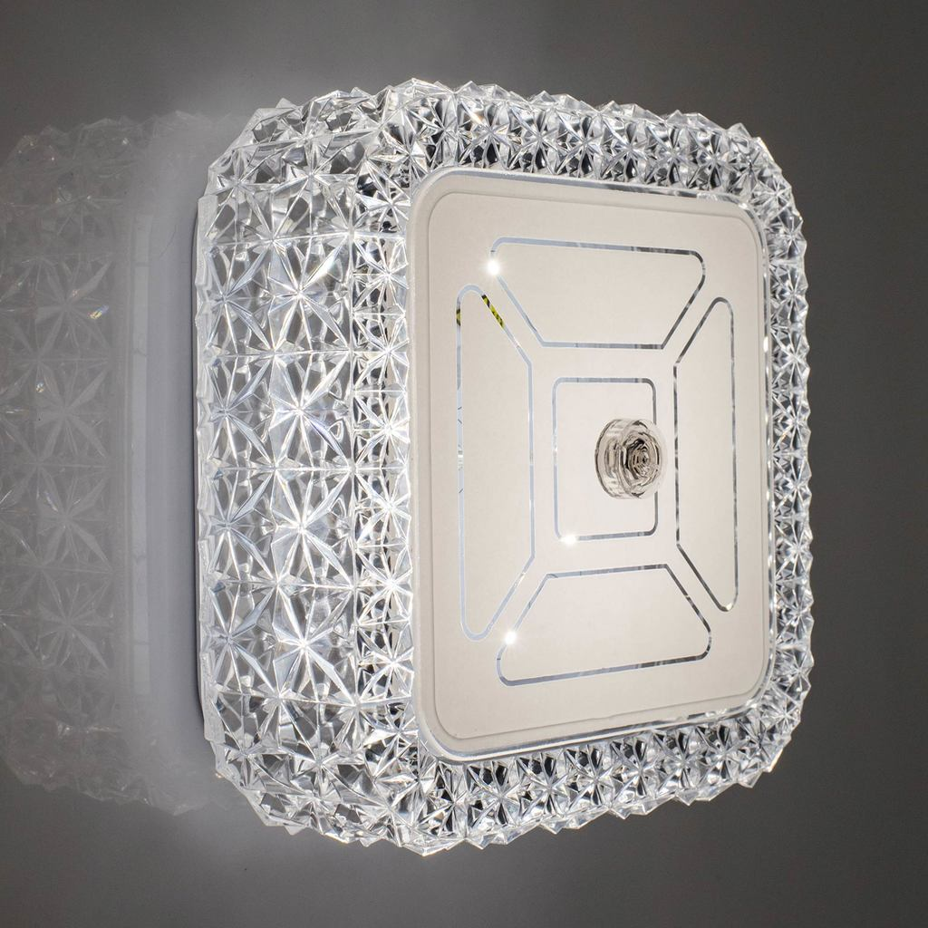 Потолочный светодиодный светильник Citilux Кристалино CL705201, LED 12W 3000K 1000lm, белый, металл, пластик - фото 8