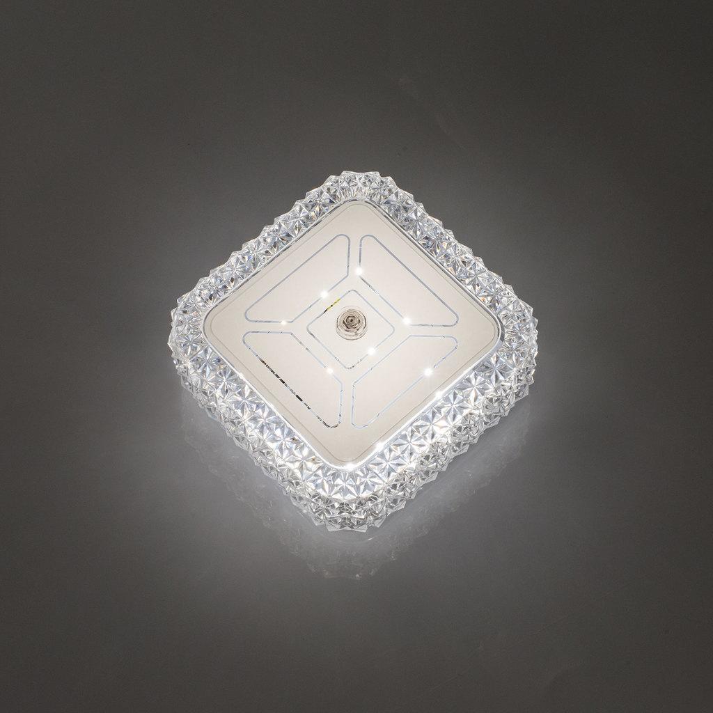 Потолочный светодиодный светильник Citilux Кристалино CL705201, LED 12W 3000K 1000lm, белый, металл, пластик - фото 9