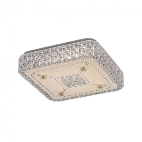 Потолочный светодиодный светильник Citilux Кристалино CL705211, LED 18W 3000K 1350lm, белый, металл, пластик
